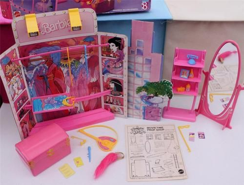 Barbie Super Star Movietime Prop Shop in Original Box Furniture Vintage 1988 | eBay