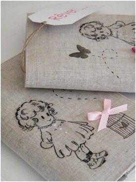 #linen, with #adorable stenciled pattern