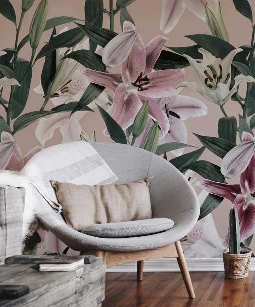 Tapeta Do Salonu W Kwiaty Wallpaper With Flowers Accent Chairs Decor Home Decor