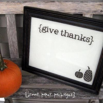 cute way for the family to express their thanks!  Framed Dry erase board with vinyl lettering and images.