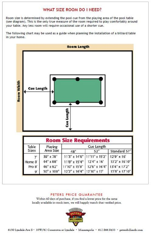 Room Size For Standard Pool Table Uggonsaleuk Info
