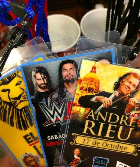 Hoy nos vamos a André Rieu Rey León y WWE. Les recordamos que nos vemos 14:30 para salir 15:00 Hrs. Gracias por su confianza