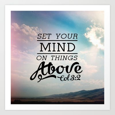 Image result for set your mind on things above