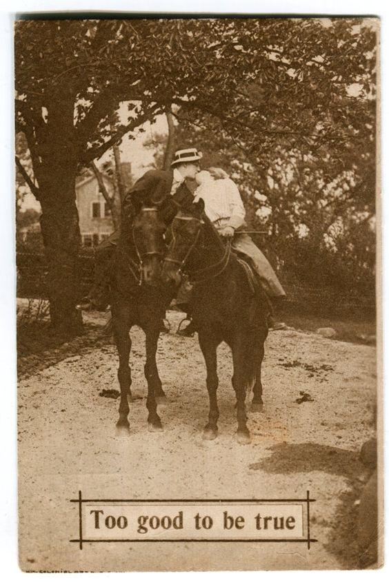 Postcard 'Too good to be true' - Postmarked 1910- Vintage Divided Back