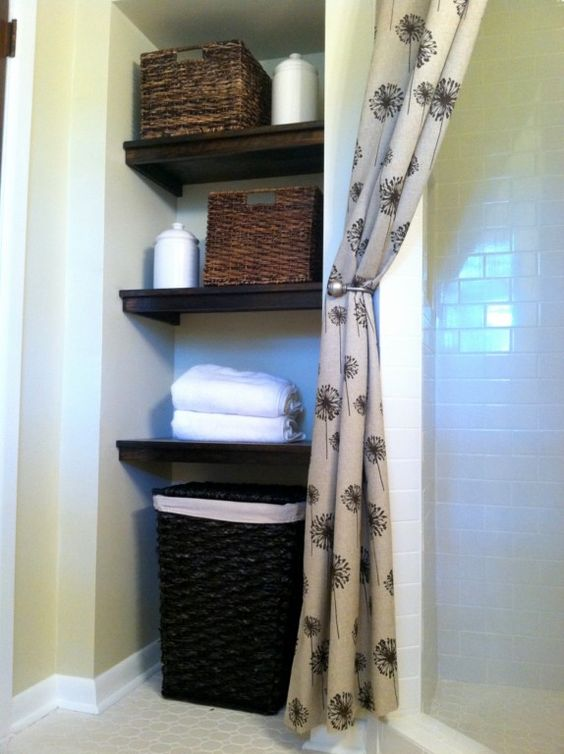 Before after master bath remodel hampers closet and bath for Small bathroom hamper