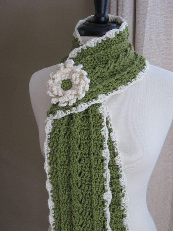 bufandas en crochet bonitas.