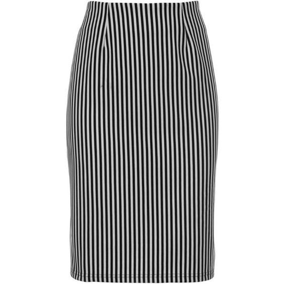 Lipsy Stripey Pencil Skirt