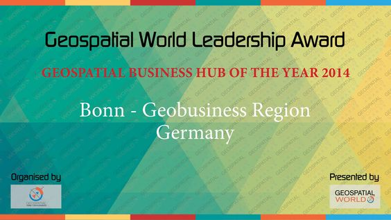 Bonn is the Geospatial Business Hub of the year 2014
