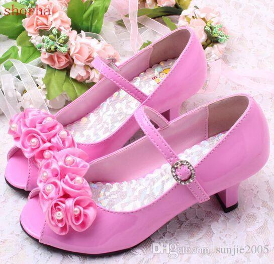 High Heel Sandals Kids Wedding Shoes