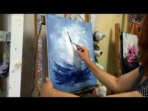 Cours De Peinture Au Couteau Tuto Facile Les Voiliers