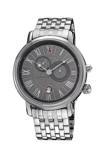 Men's Stainless Steel Swiss Collection Multifunction Watch by Akribos on @HauteLook
