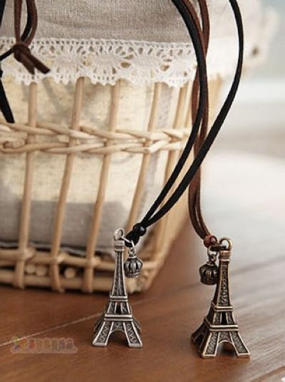 Tower retro fashion sweater necklace $ 0.77