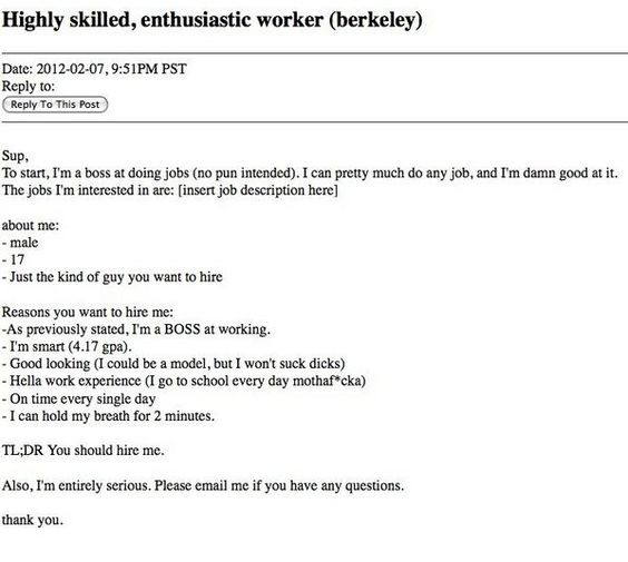 craigslist resume funny Iu0027m literally dying Pinterest - examples of one page resumes
