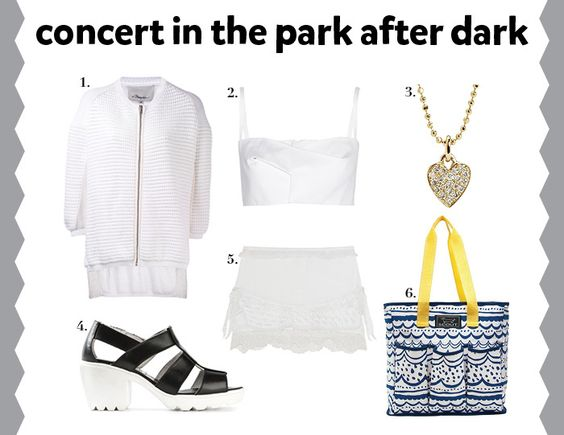 Looking stylish for a concert in the park after dark!