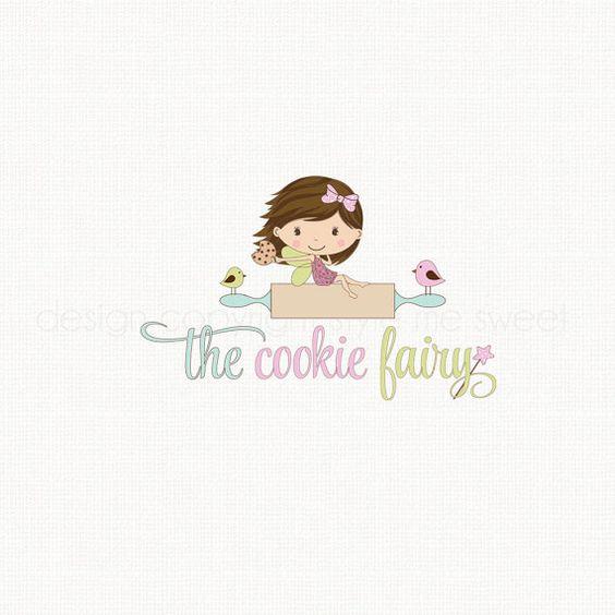 fairy logo design bakery logo cookie logo bakers logo