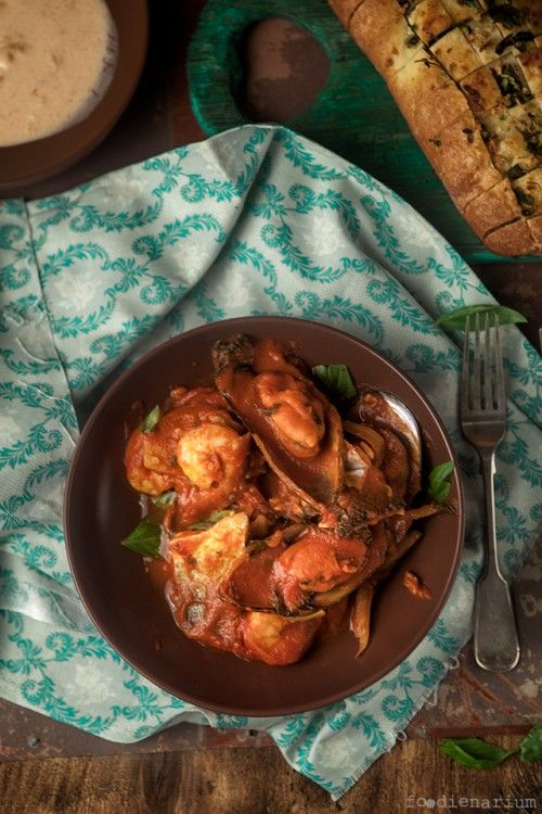 Fish Fillet And Mixed Seafood Tomato Stew