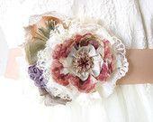 Nozze Sash Floral fascia nuziale, pizzo Vintage, viola, oro rosa, pesca, rosa sposa cinghia fiore per abito da sposa, tessuto Fiore Pin