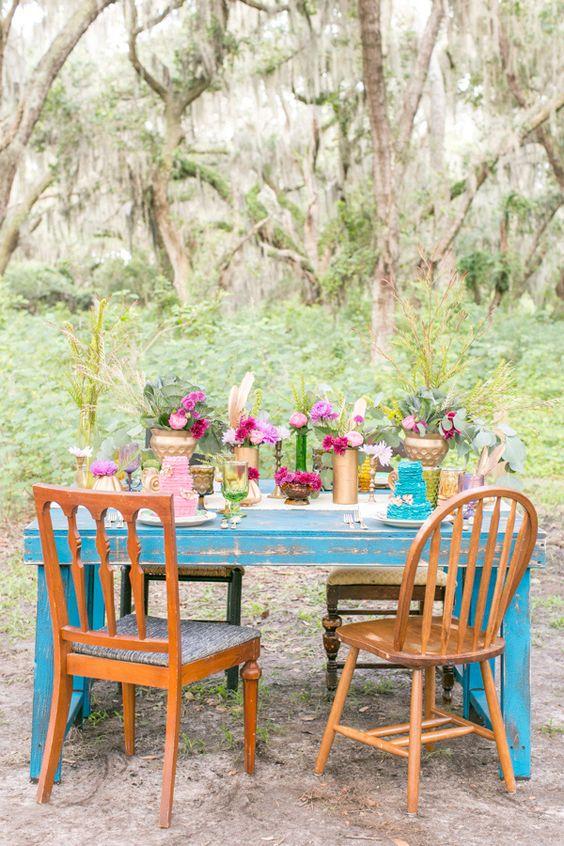 Bright Bohemian Wedding Ideas   Wedding, Wedding ideas and ...