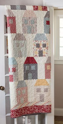 Won't You Be My Neighbor? house quilt from Fons and Porter: