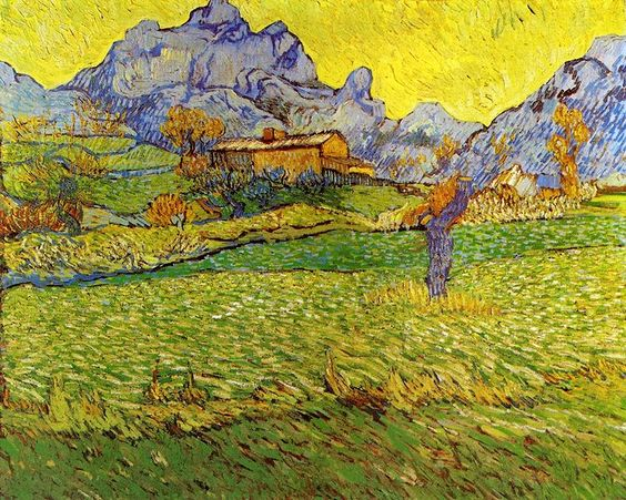 A Meadow in the Mountains Le Mas de Saint-Paul 1889 Vincent van Gogh