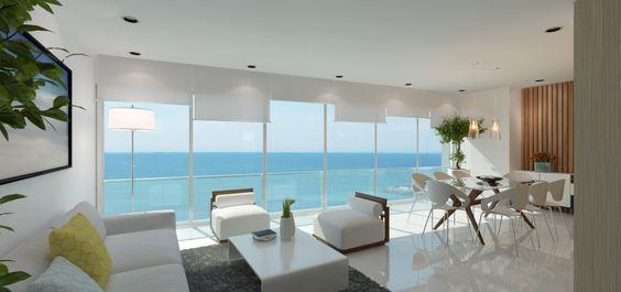 La vista hacia el mar es inigualable, este departamento en venta en Salinas en el condominio Bay View Apartments.