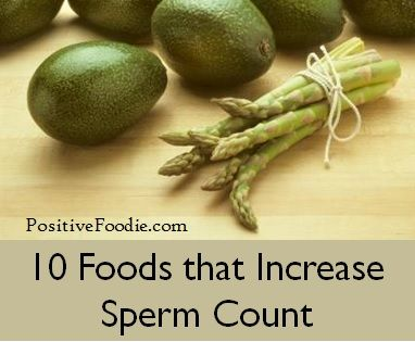 Sperm producing and erection producing foods