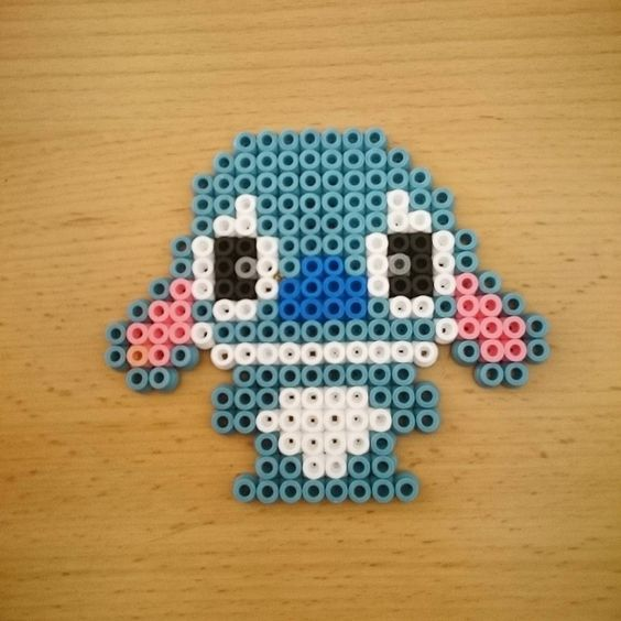 #stitch #liloandstitch #disney #8bit #beads #beadsprite #beadsprites #pearls #handmade #artwork #pixelart #bügelperlen #hamabeads #pixel
