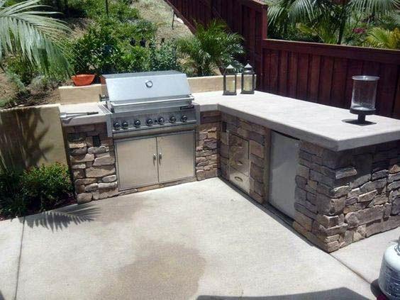 Concrete Countertops Modern Outdoor Kitchen Outdoor Bbq Kitchen Diy Outdoor Kitchen