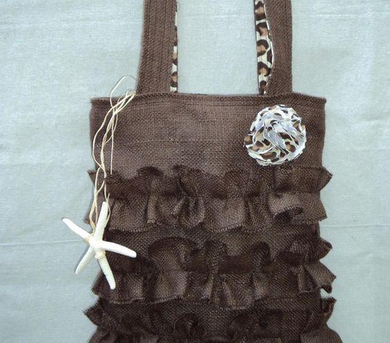 Burlap Bag by theruffleddaisy on Etsy, $46.00