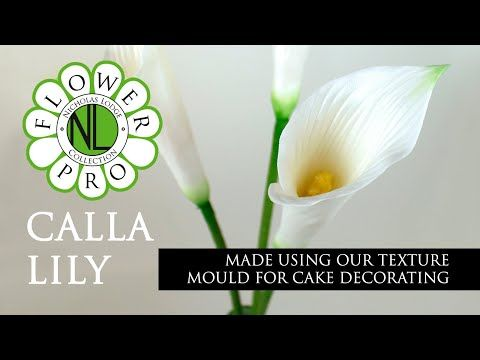 Flower Pro Calla Lily Cake Decorating Tutorial With Chef Nicholas Lodge Youtube Sugar Flowers Tutorial Calla Lily Cake Cake Decorating Tutorials