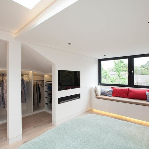 Turning Your Attic Into A Bedroom Is A Great Idea Especially For Small Houses We Ve Gathered Loft Conversion Dressing Room Loft Conversion Bedroom Loft Spaces