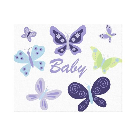 Beautiful Butterflies Nursery 10 X8 Canvas Print Zazzle Com Butterfly Nursery Nursery Poster Baby Nursery Wall Decor