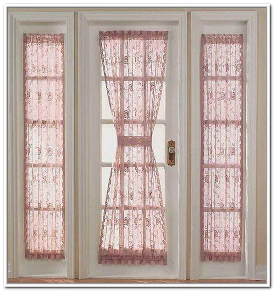 Door window curtains side door and window curtains on for Side door window coverings