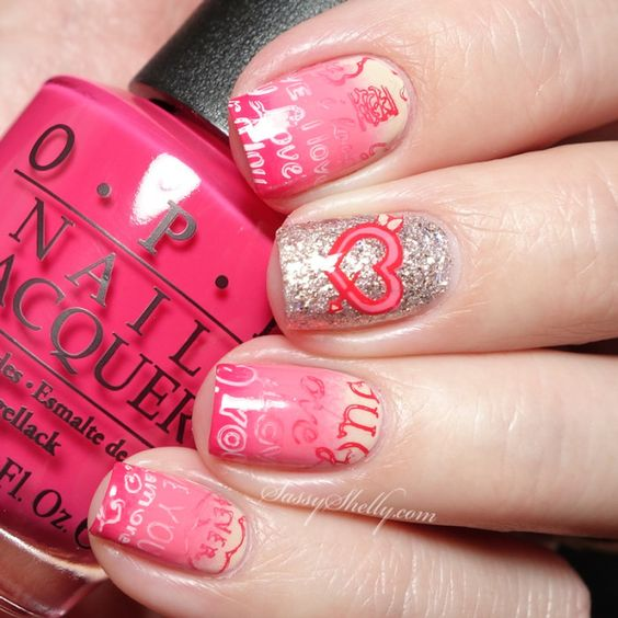 "Valentine's Day Nails with the Bundle Monster Mochi Stamper & ""Occasions"" plate set + a Video Tutorial 