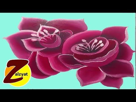 رسم وردتين Youtube Abstract Painting Flowers Abstract