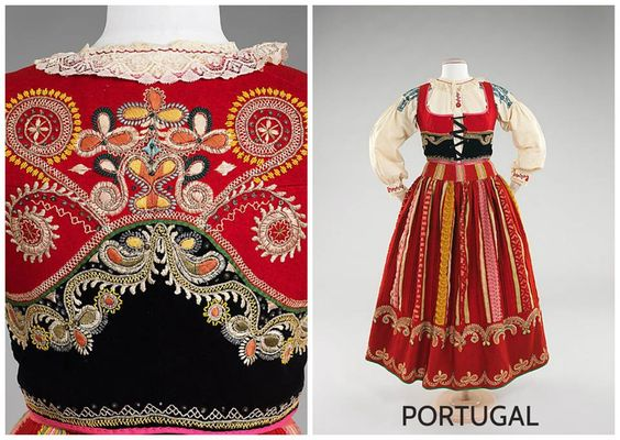 Lavradeira Costume, Viana do Castelo, Minho province, Portugal fourth quarter 19th century