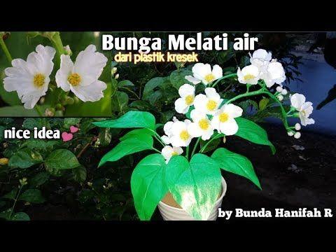 How To Make Jasmine Flowers From Plastic Bag Ll Bunga Melati Air