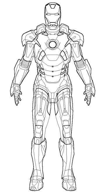 Blank Coloring Pages Avengers : The robot iron man coloring pages pinterest