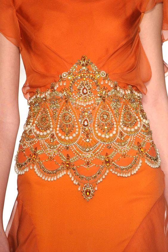 Sari-inspired at Marchesa, Spring 2013
