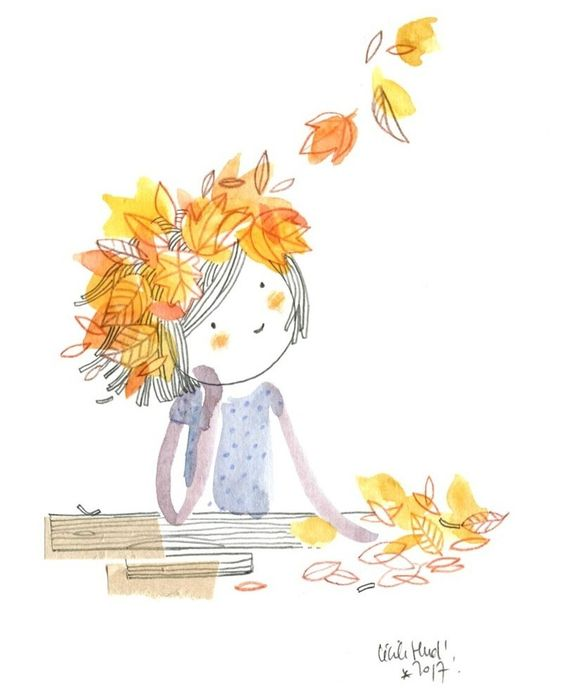 #watercolor #doll #cecilehudrisier #illustration #automn