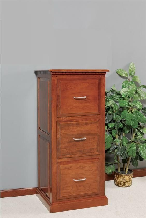 Amish 3 Drawer Traditional File Cabinet Filing Cabinet Cabinet Wood File