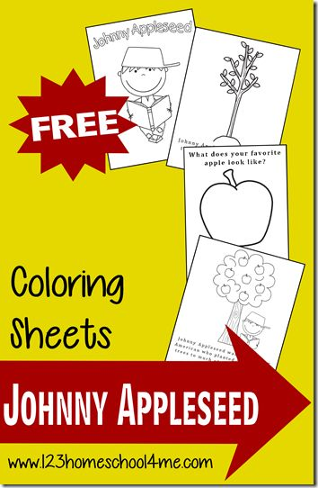 FREE Johnny Appleseed Coloring