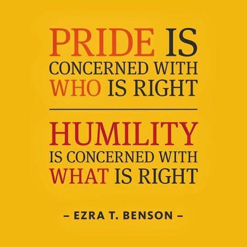 Best Quotations 4 U Google+ Pride vs Humility