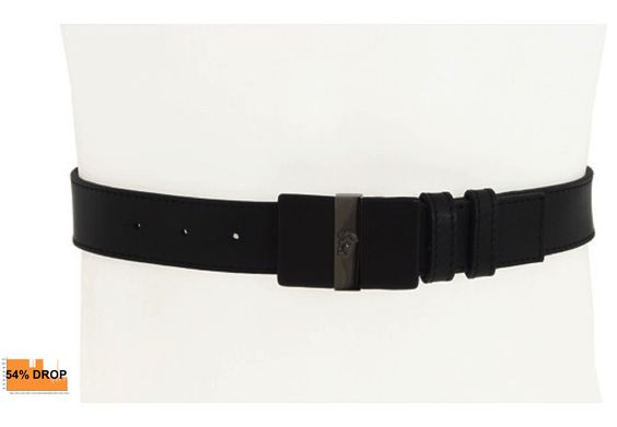 Versace Collection Leather Belt. Was $295. Now $136.