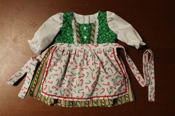 Weihnachts Baby-Dirndl size 68-74 von WiesnPrinzessin auf DaWanda.com