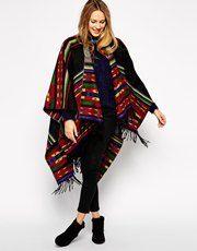 Kiboots Reversible Wool Poncho