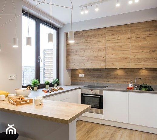 Aranzacje Wnetrz Kuchnia Przytulny Mokotow Srednia Otwarta Kuchnia W Ksztalcie Litery G Z Oknem Pracownie Kitchen Interior Kitchen Design Modern Kitchen