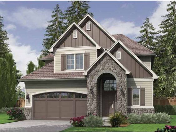 Love this style for home exterior! Floor plan was nice too!