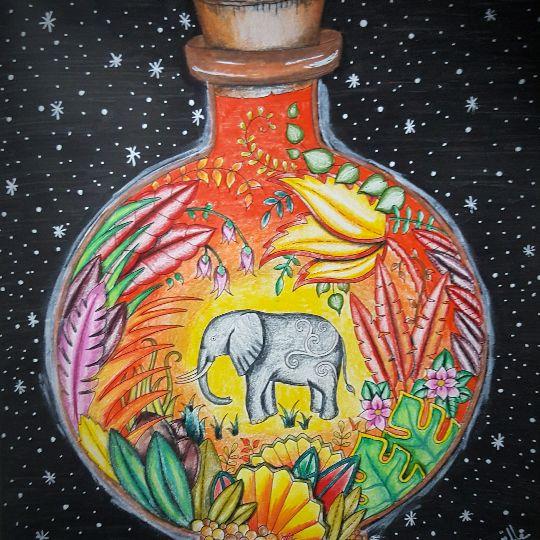 Sarah Kamaelle 14 10 2016 Johanna Basford Colouring Gallery Johanna Basford Coloring Book Joanna Basford Coloring Johanna Basford