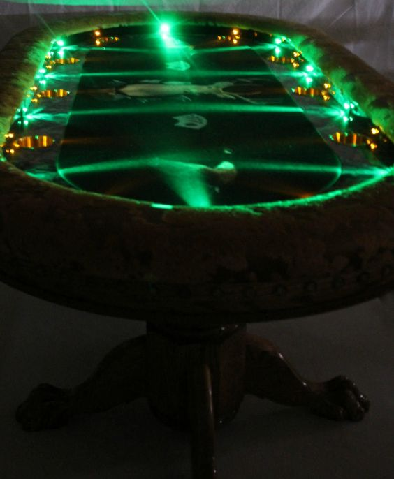 Custom 6 Person Poker Table Lights In Action   YouTube | Home | Pinterest | Poker  Table, Poker And Lights
